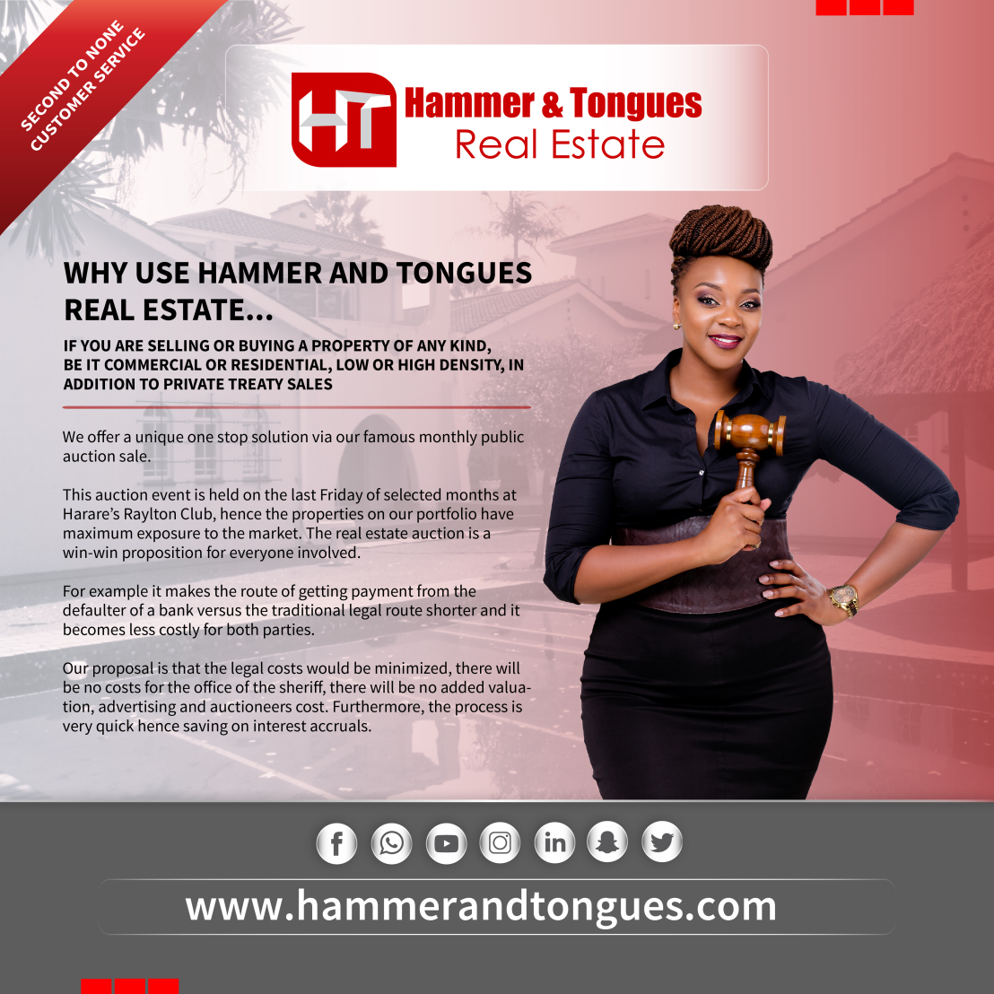 If it's about real estate, talk to us!